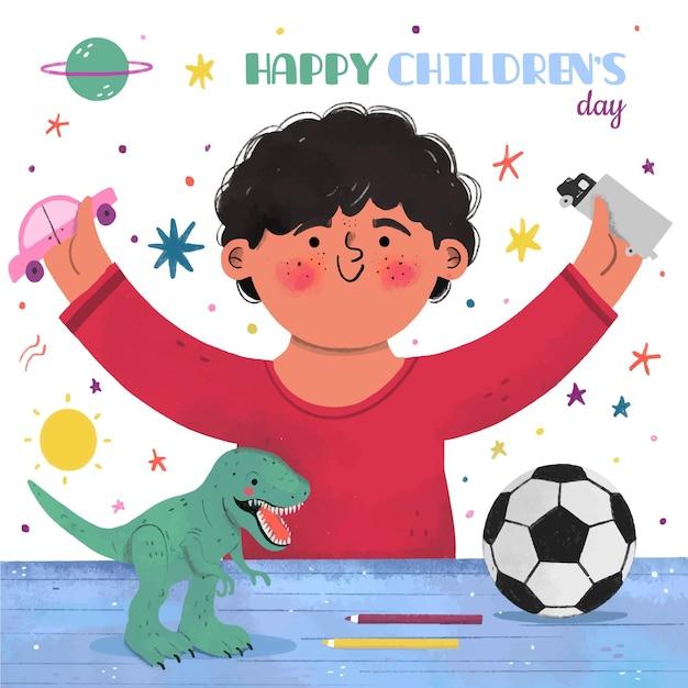 Всемирный день защиты детей Бесплатные векторы