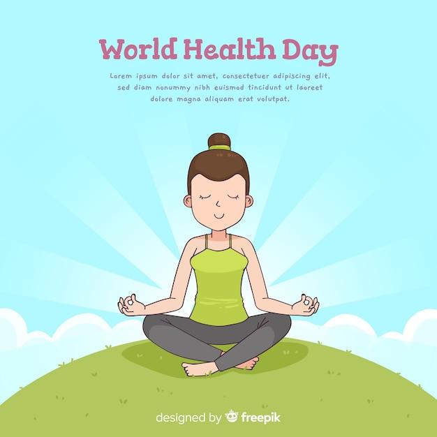 Hand drawn world health day background Free Vector