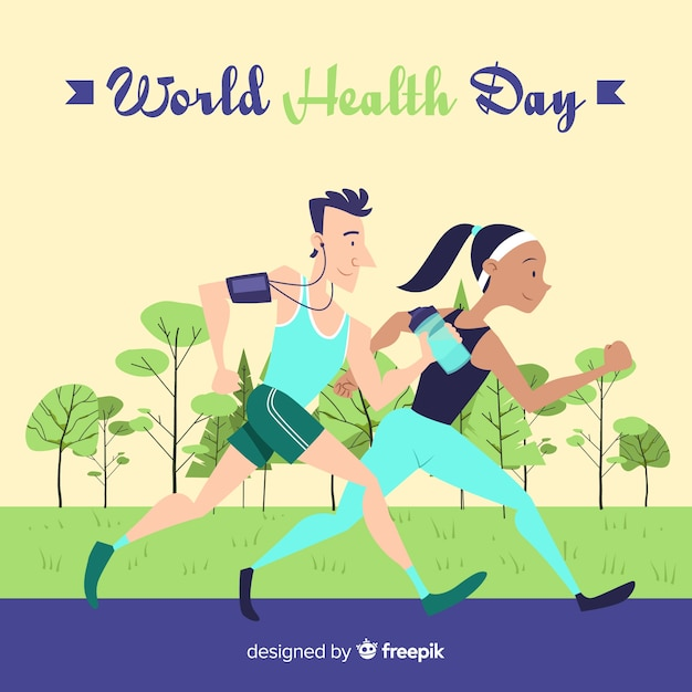 Hand drawn world health day background Free Vector