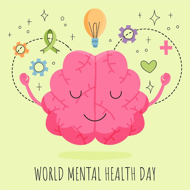 Free Vector Hand Drawn World Mental Health Day Illustration