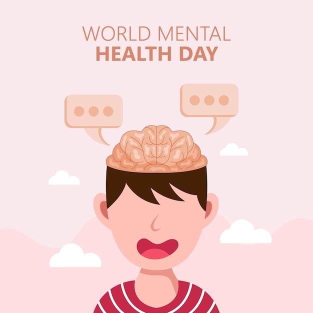 Всемирный день психического здоровья Premium векторы