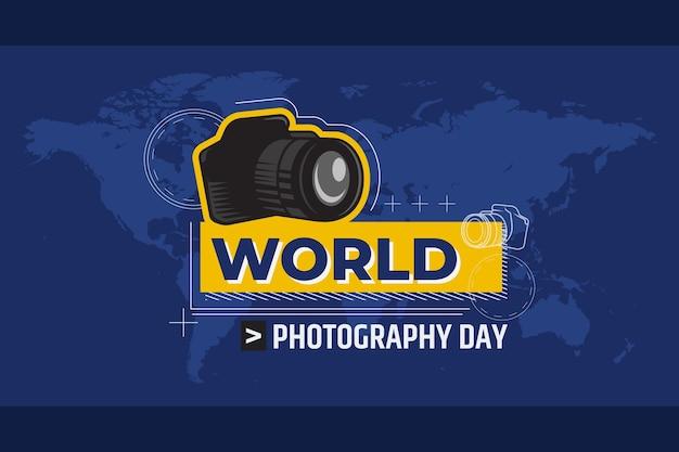 手描きの世界写真の日のコンセプト 無料ベクター
