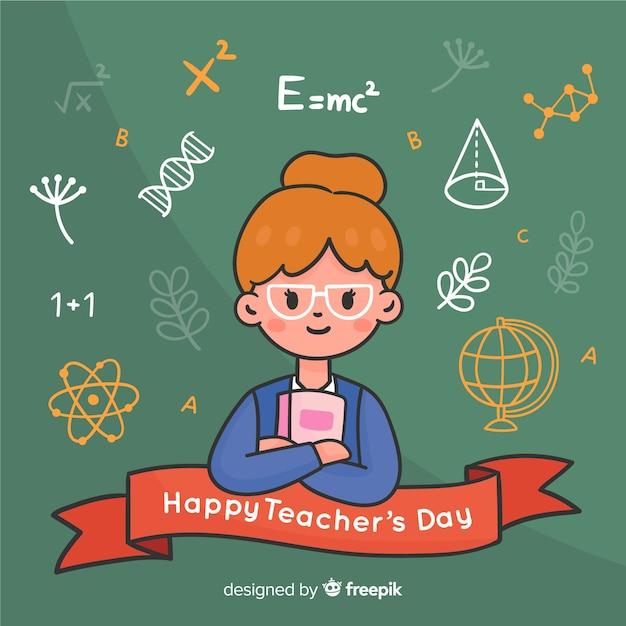 Hand drawn world teachers' day Free Vector