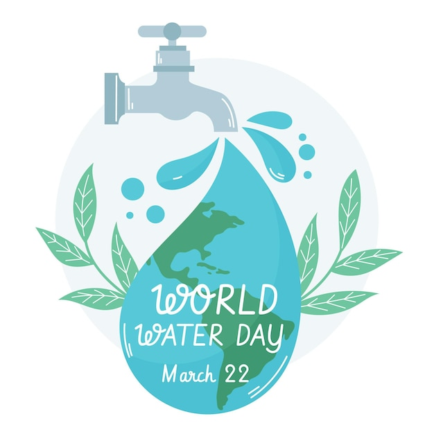 Hand drawn world water day illustration Free Vector