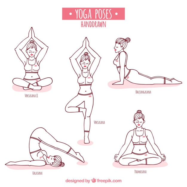 Free Vector Hand Drawn Yoga Poses