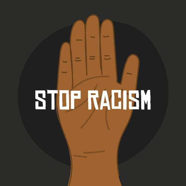 Рука конец концепции расизма Бесплатные векторы