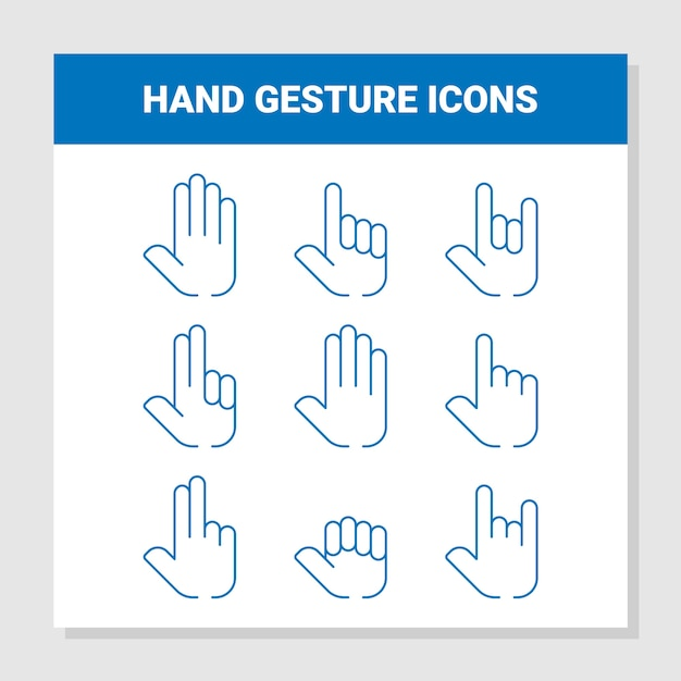Hand gesture icons Premium Vector