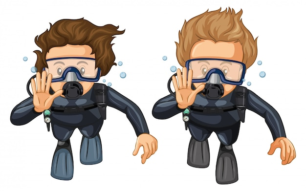 Hand gesture for scuba diving Free Vector