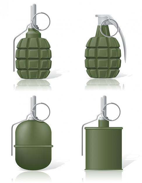 Hand grenade. Premium Vector