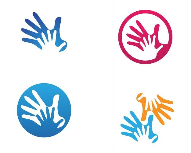 hand help logo and symbols template icons app vector palm vector clip art palm vector logo