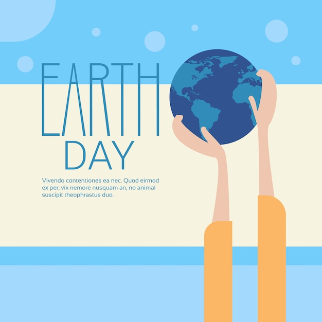 Hand hold globe earth day global ecological world protection holiday concept Premium Vector