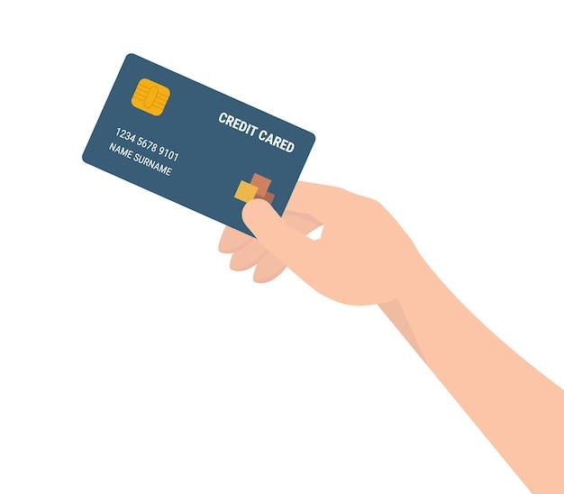Premium Vector   Hand holding credit card