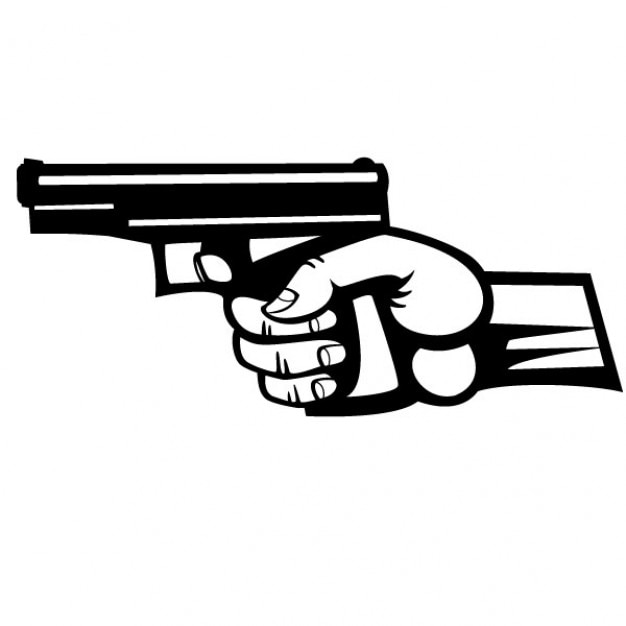 free vector hand holding a pistol vector illustration hand holding a pistol vector illustration