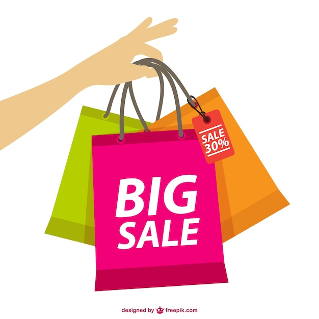 Hand holding shopping bags vector free download for Online shopping for the home