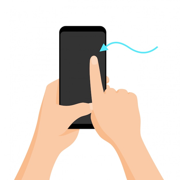 Hand holding smartphone with quick tutorial on the screen ...