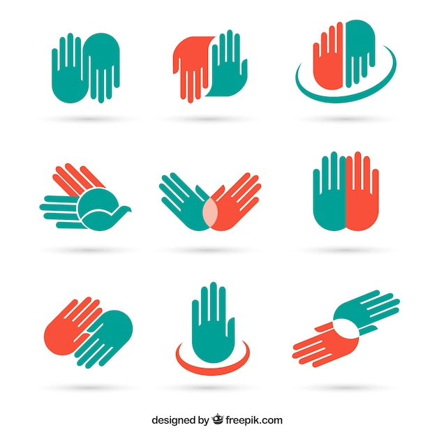 Hand icons and symbols  Free Vector