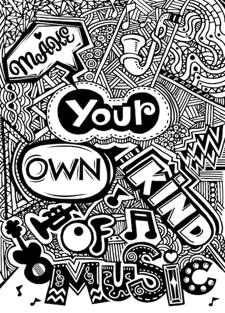 Hand lettering quote. hand drawn typography poster ...