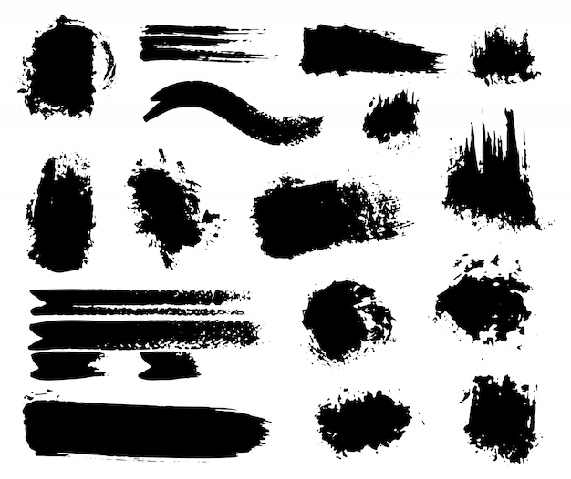 Hand-made acrylic wet and dry paint splatters Free Vector