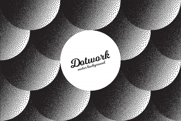 Hand made dotwork abstract background Premium Vector