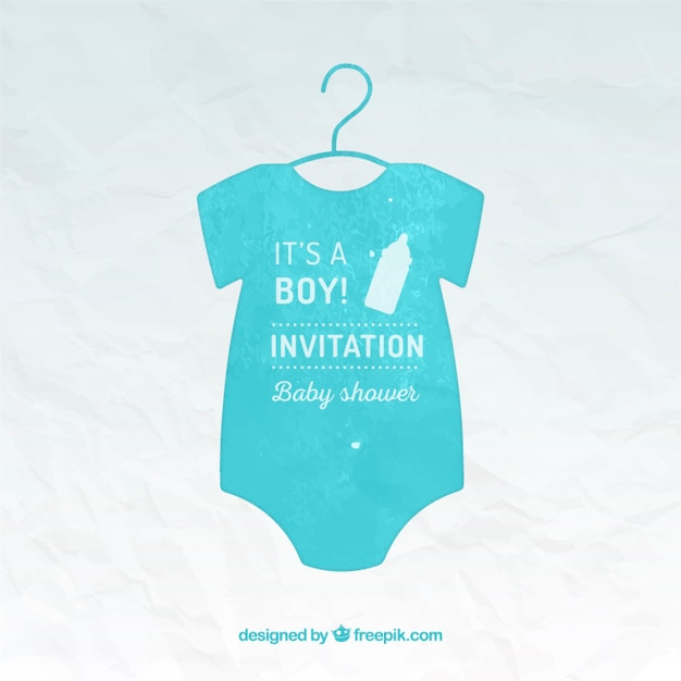 hand painted baby shower card template vector free download