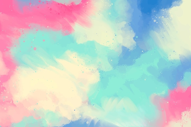 Hand painted background in gradient with copy space Free Vector