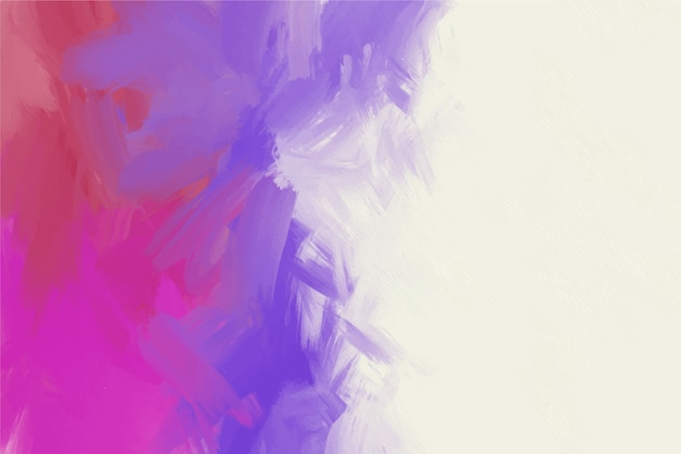 Hand painted background in white and gradient violet colours Free Vector
