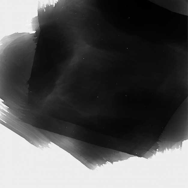 Hand painted black watercolor texture background Free Vector