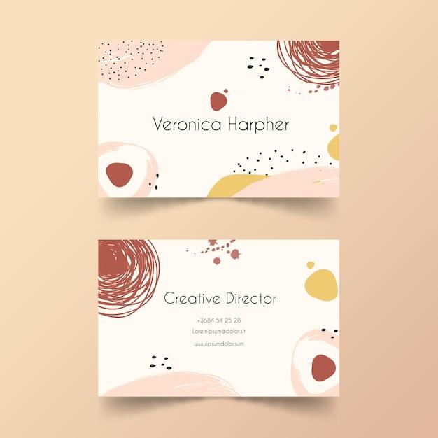 Ручная роспись шаблон визитной карточки Бесплатные векторы