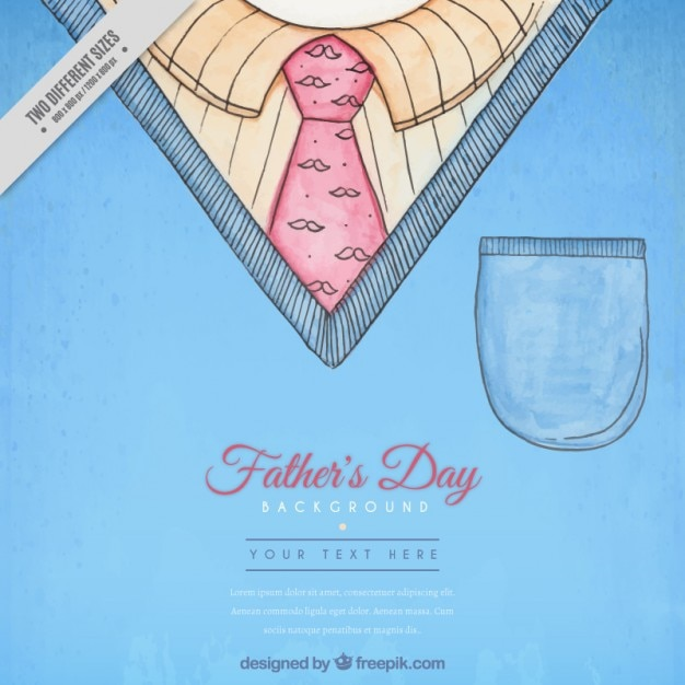 hand painted father s day background with a jersey and tie