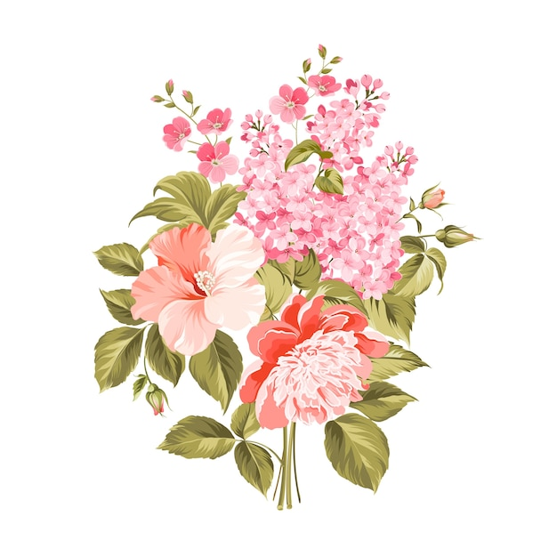 Hand painted floral background Premium Vector