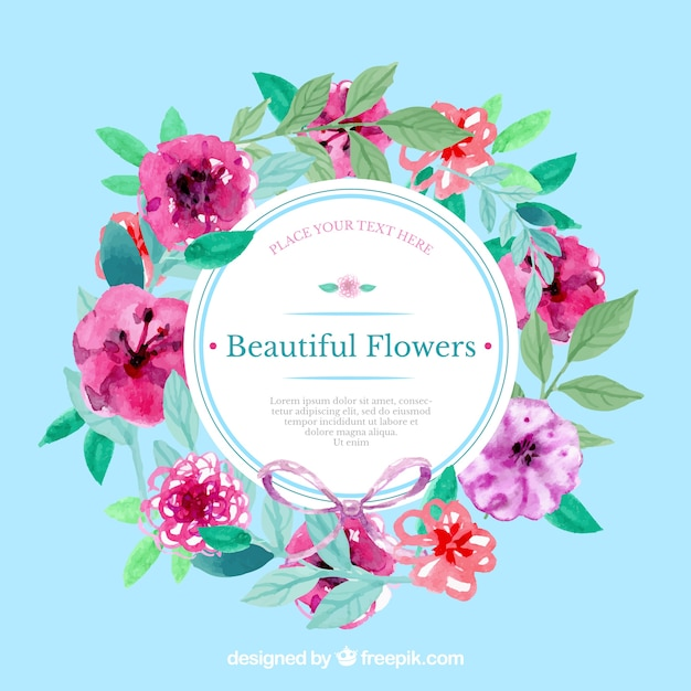 flower tags template free - hand painted floral label vector free download