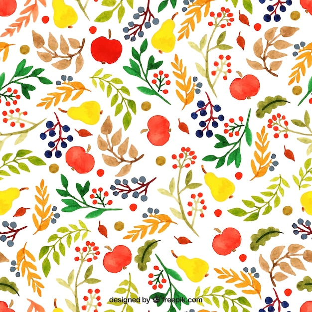 Hand painted floral pattern in colorful style Vector | Free Download