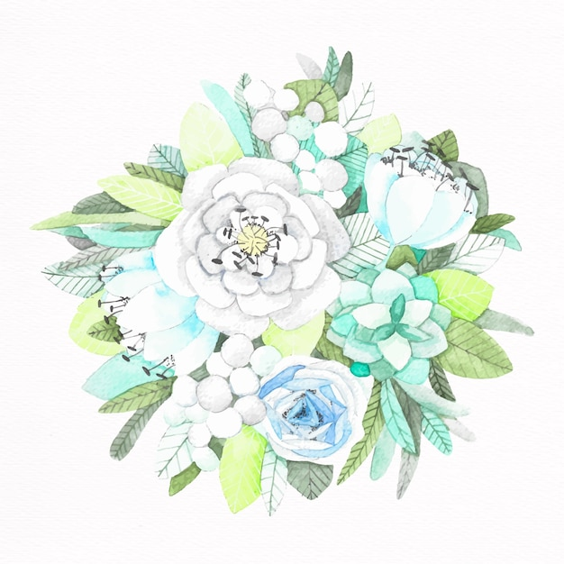 Hand painted flower bouquet Vector   Free Download