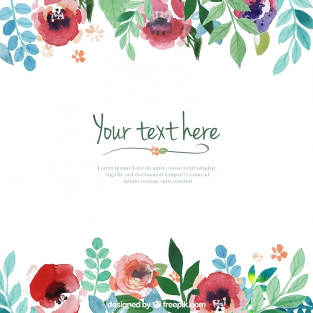 Hand painted flowers template Vector | Free Download