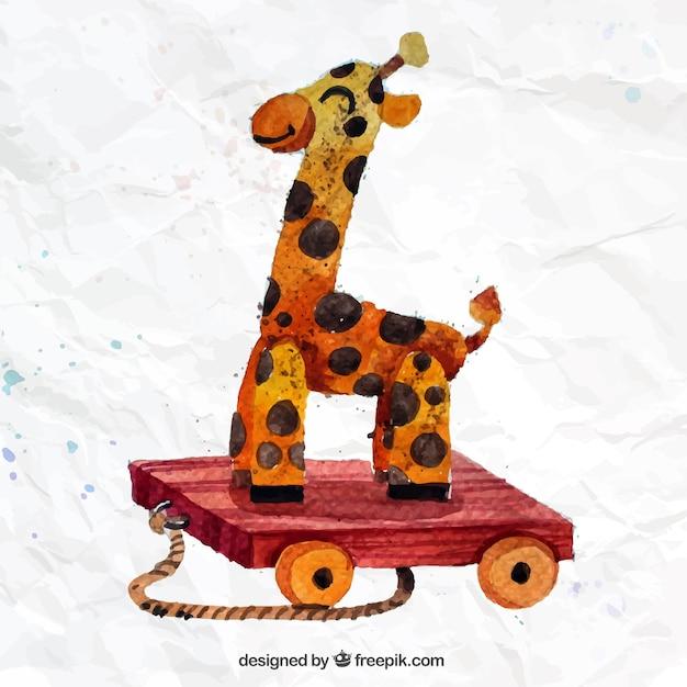 Hand painted giraffe Free Vector