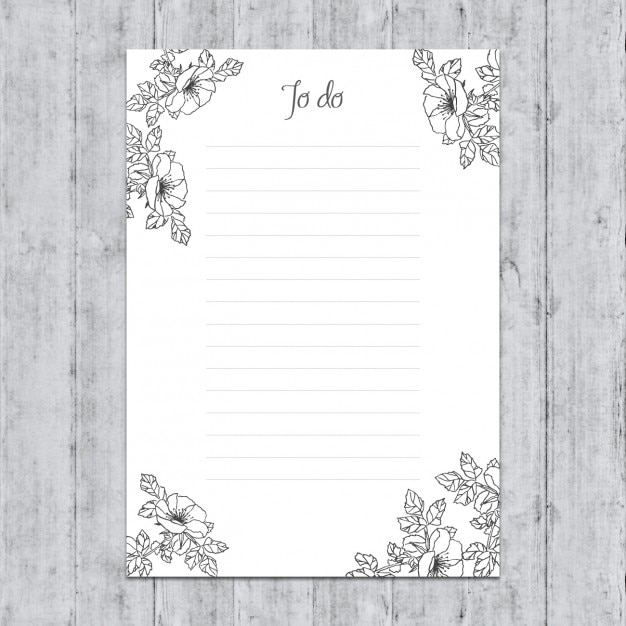 Hand painted to do list Free Vector