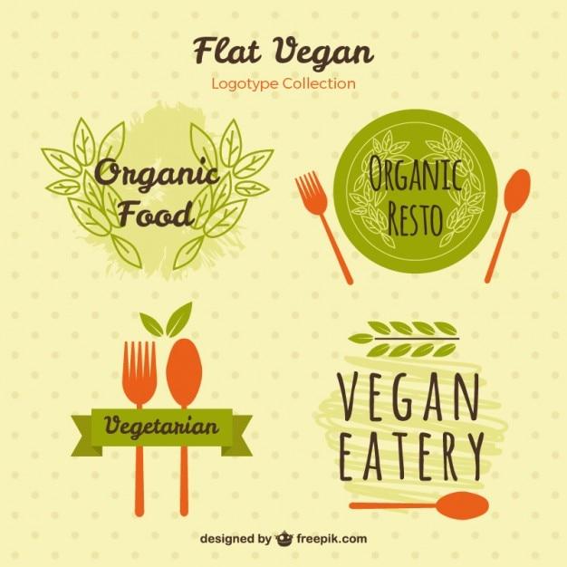 دست نقاشی آرم برای مواد غذایی گیاهی