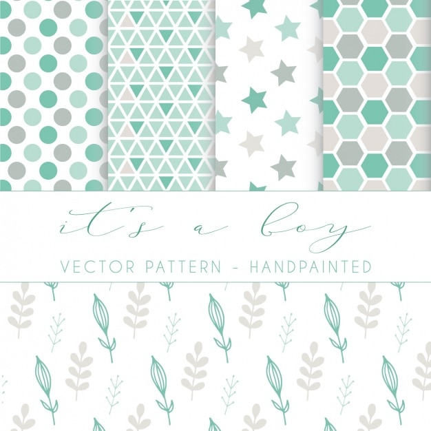 Hand painted pattern design Free Vector