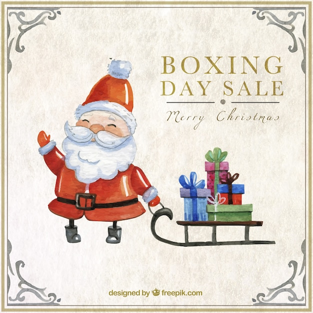 Hand painted santa claus boxing day sale