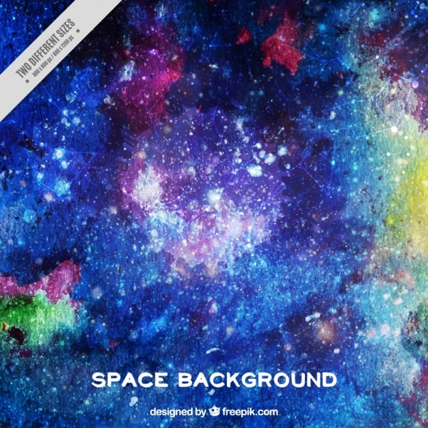 Hand painted space background