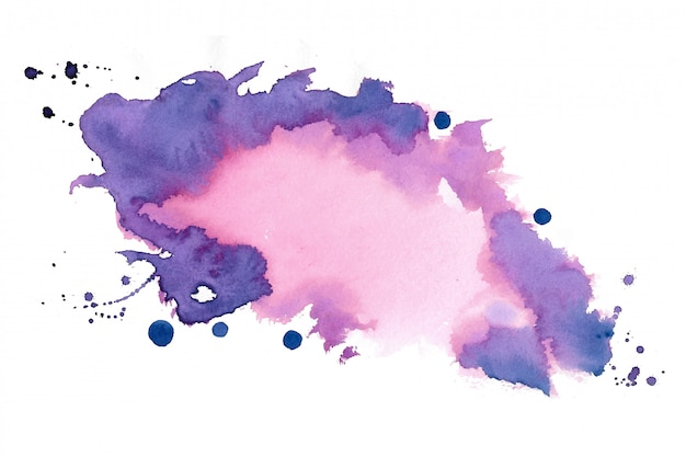 Hand painted watercolor stain texture background design Free Vector
