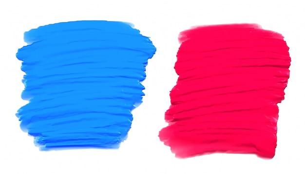 Set di due texture acquerello dipinto a mano Vettore gratuito
