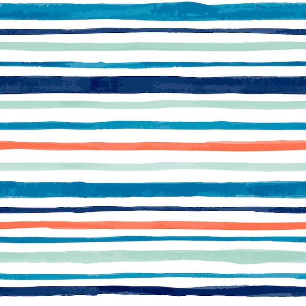 Hand painted watercolor vector seamless pattern Premium Vector