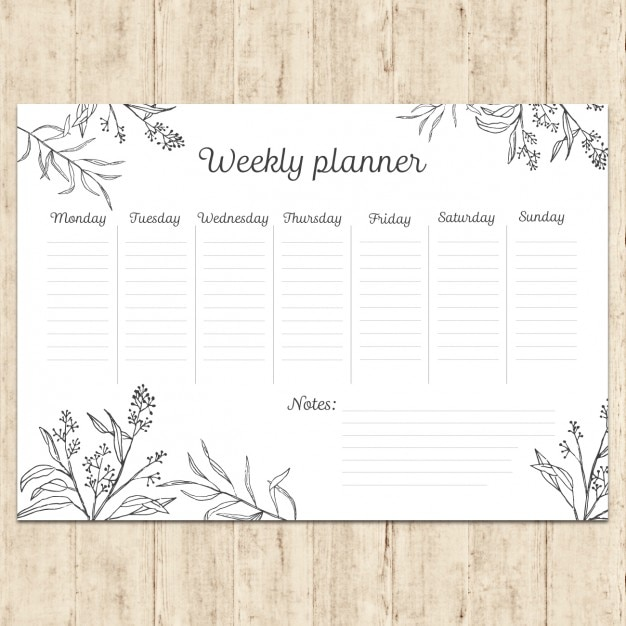 Weekly Agenda Vectors Photos And Psd Files  Free Download