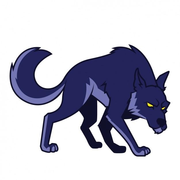 手描きオオカミの設計 無料ベクター