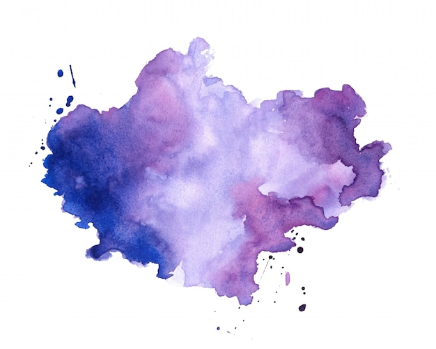 Hand painter colors watercolor stain texture background Free Vector
