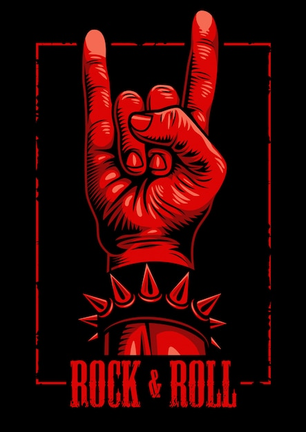 Hand in rock n roll sign Free Vector