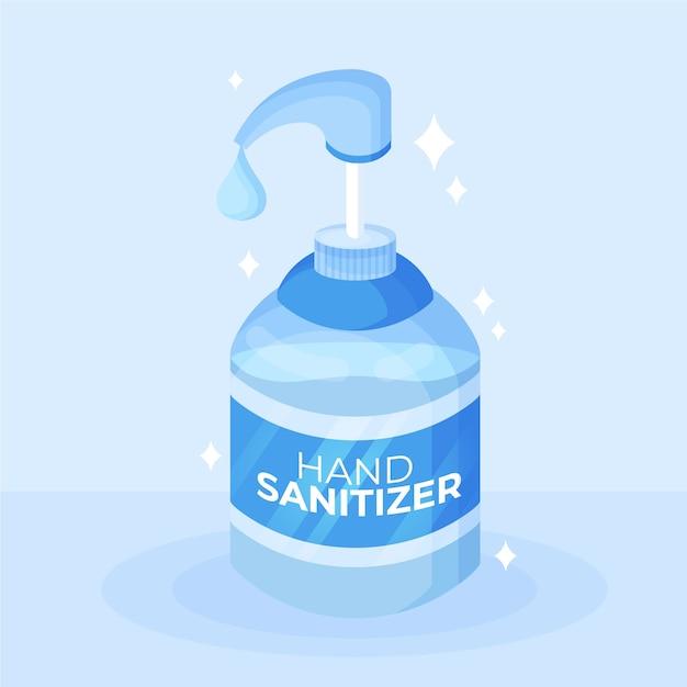 Bottiglia disinfettante per le mani con design piatto pompa Vettore gratuito