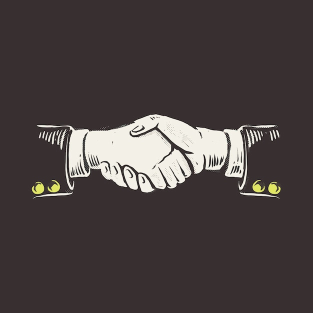 握手 Premiumベクター