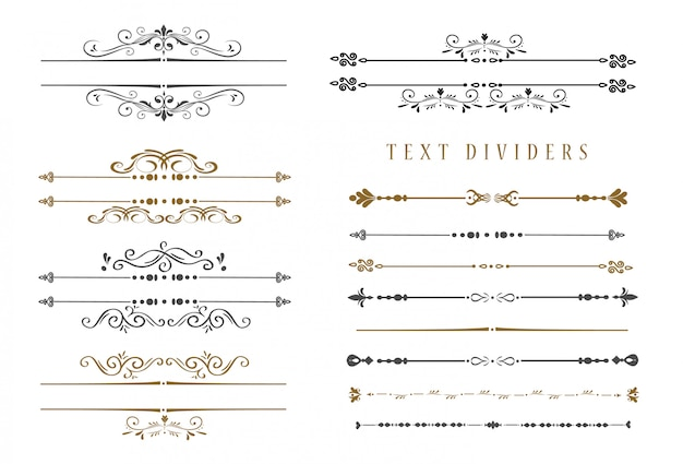 Hand sketched vintage elements Premium Vector